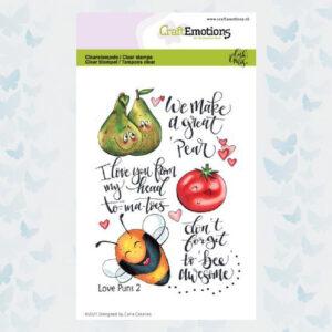 CE Clear Stempels - Love Puns 2 Carla Creaties 130501/1505