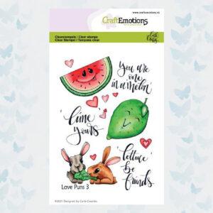 CE Clear Stempels - Love Puns 3 Carla Creaties 130501/1506