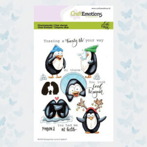 CraftEmotions Clear Stempels - Penguin 2 Carla Creaties 130501/1694