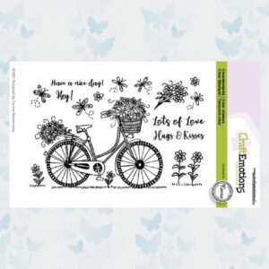 CraftEmotions Clear Stempels - Fiets - Have a nice day. Connie Westenberg 130501/2702