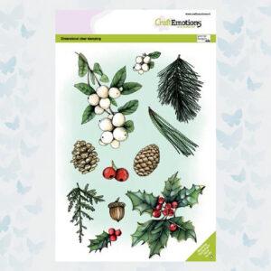 CraftEmotions Clear Stempels A5 - Florestiek Winter 130501/3011