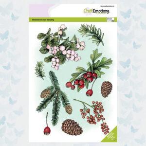 CraftEmotions Clear Stempels A5 - Florestiek Winter 130501/3012