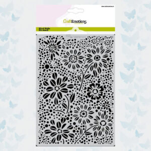 CraftEmotions Mask/Stencil Flowers & Dots 185070/1273