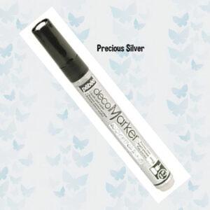 Pebeo Acrylic Marker Precious Silver 0.7 Tip 201356