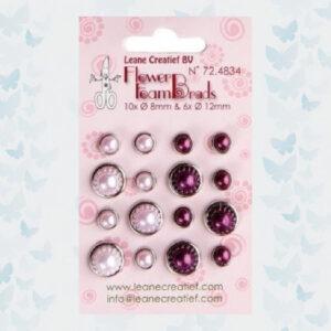 LeCrea - Pearl Brads Rose & Bordeaux 72.4834
