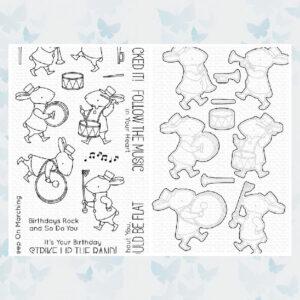 PROMO BUNDEL * My Favorite Things - Strike Up the Band - Snijmallen (MFT-1676) + Stempelset (BB-93)