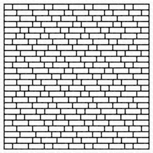 My Favorite Things English Brick Wall Rubber Background Stamp (BG-139)