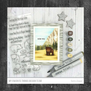 My Favorite Things Thick and Thin Background Rubber Stamp (BG-146)