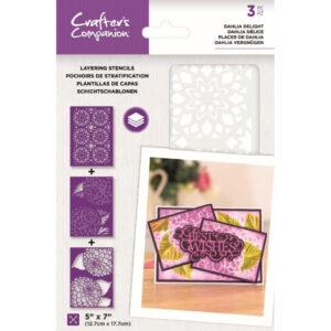 Crafter's Companion Dahlia Delight Layering Kaleidoscope Stencils (CC-STEN-DAH)