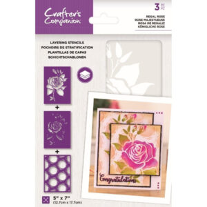 Crafter's Companion Regal Rose Layering Kaleidoscope Stencils (CC-STEN-REGR)