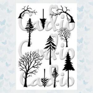 Card-io Clear Stempels Mini Tall Trees CCSTMIN-01