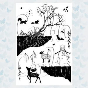 Card-io Clear Stamps Starry Sky CCSTSTA-02