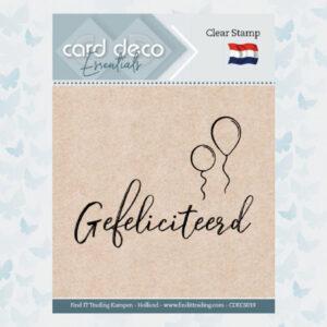 Card Deco Essentials - Clear Stamps - Gefeliciteerd CDECS019