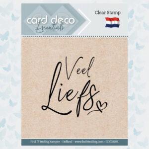 Card Deco Essentials - Clear Stamps - Veel Liefs CDECS025