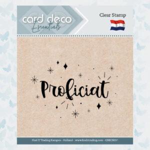 Card Deco Essentials - Clear Stamps - Proficiat CDECS037