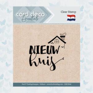 Card Deco Essentials - Clear Stamps - Nieuw Huis CDECS042