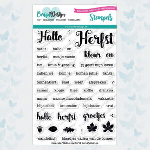 "CarlijnDesign Stempelset ""Hallo Herfst"" CDST-0004"