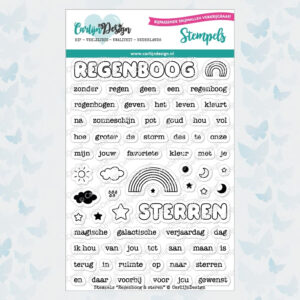 CarlijnDesign Stempels Regenboog & Sterren CDST-0062