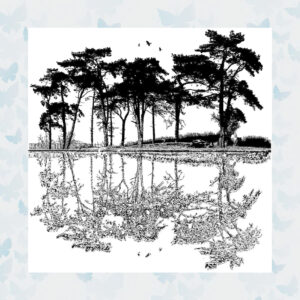 Crafty Individuals Dawn Reflections Unmounted Rubber Stamp (CI-554)