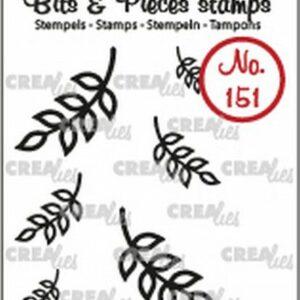 Crealies Clearstamp Bits & Pieces 6x Mini Blaadjes 8 CLBP151