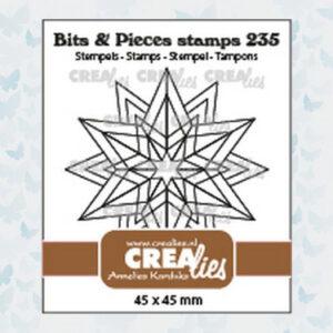 Crealies Clear Stempel Bits & Pieces Rozet Starlight CLBP235