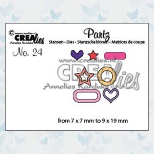 Crealies Partz snijmal no.24 Versiering voor labels 2 CLPARTZ24
