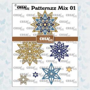 Crealies Patternzz Mix Rozet Starlight CLPATMix01