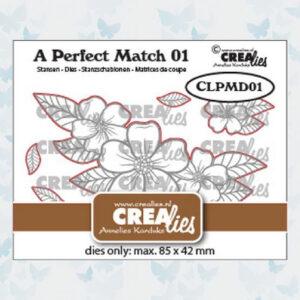 Crealies A perfect match Dies Mix Bloemen boeket A CLPMD01