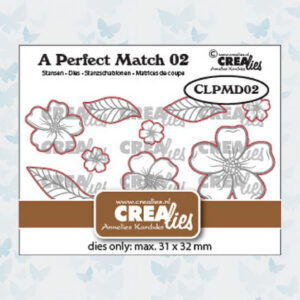 Crealies A perfect match Dies Mix Losse Bloemen A CLPMD02