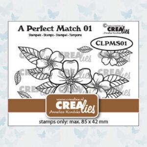 Crealies a perfect match stamps Bloemen boeket A CLPMS01