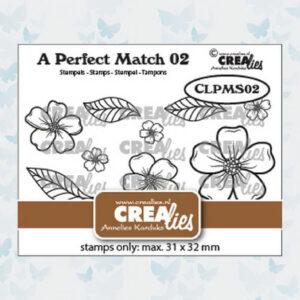 Crealies A perfect match stamps losse Bloemen A CLPMS02