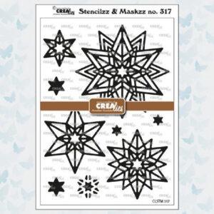 Crealies Stencilzz/Maskzz Rozet Starlight CLSTM317