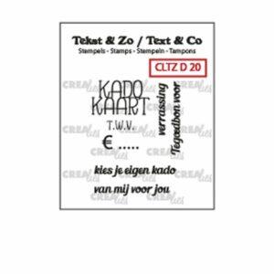"Crealies Text & Zo tekst stempel Nederlands ""Kadokaart"" CLTZD20"