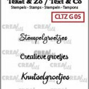 Crealies Clearstamp Tekst&Zo Groetjes 5 CLTZG05