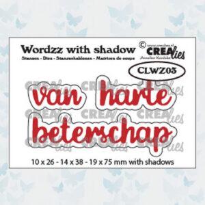 Crealies Wordzz Snijmallen met schaduw - Beterschap CLWZ03