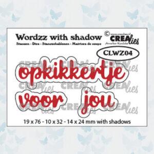 Crealies Wordzz Snijmallen met schaduw - Opkikkertje voor jou CLWZ04