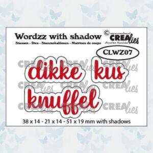 Crealies Wordzz Snijmallen met schaduw - Dikke Kus CLWZ07