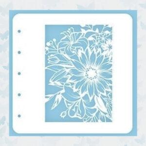 Nellie's Choice Stencil voor Magnetic colour set Flower-1 COLST001
