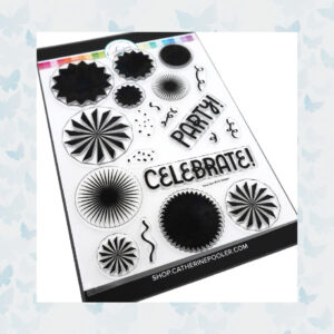Catherine Pooler Clear Stempels - Party Fans Stamp Set CPS1031