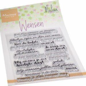 Marianne Design Clear Stamps Wensen (NL) by Marleen CS1078