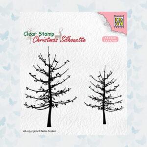 Nellies Choice Silhouette Clear stempels Bomen zonder bladeren CSIL010