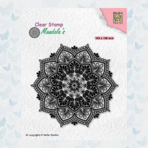 Nellies Choice Clearstempel Mandala - Sterbloem CSMAN006