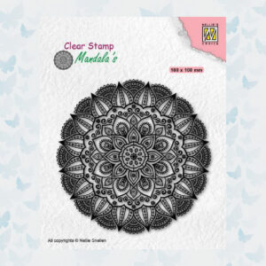Nellies Choice Clearstempel Mandala - Dahlia Bloem CSMAN007