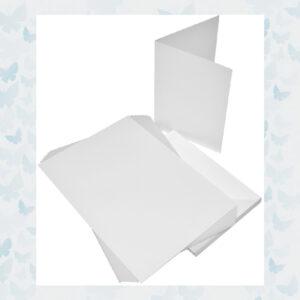 Craft UK Kaarten & Enveloppen 5x7 Inch Wit 50 stuks (CUK289)