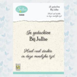 Nellie's Choice Clear Stamps Condoleance - In gedachten bij jullie DCTCS005