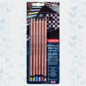 Derwent Pencils Metallic Colours Bright 6pcs DMP2305601