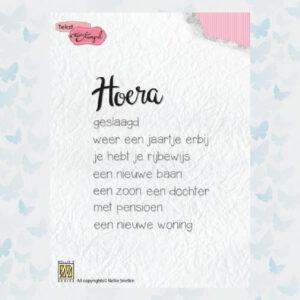 Nellie's Choice Clear Stamps Hoera: diverse gelegenhedenDTCS018