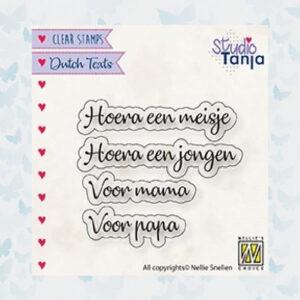 Nellie's Choice Clear Stamps Hoera een meisje... DTCS028