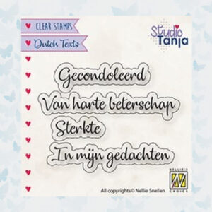 Nellie's Choice Clear Stamps Gecondoleerd DTCS029