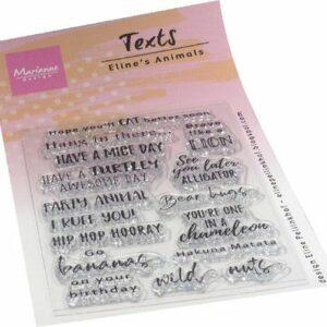 Marianne Design Clear Stamps Eline's Animals - Tekst (ENG) EC0189